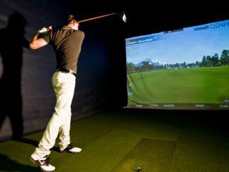 initiation avec un simulateur de golf